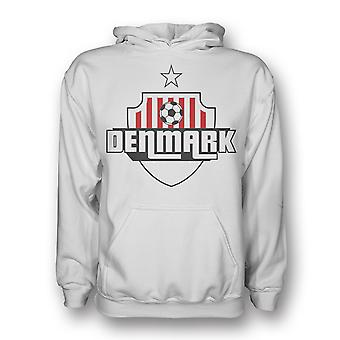 Danemarca Country logo Hoody (alb)-copii