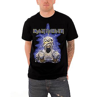 Iron Maiden T Shirt Powerslave Mummy Band Logo Official Mens New Black