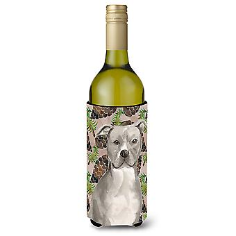 Staffordshire Bull Terrier pinho Cones garrafa de vinho Beverge isolador Hugger