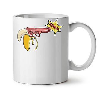 Banana Gun Gangster Funny NEW White Tea Coffee Ceramic Mug 11 oz | Wellcoda