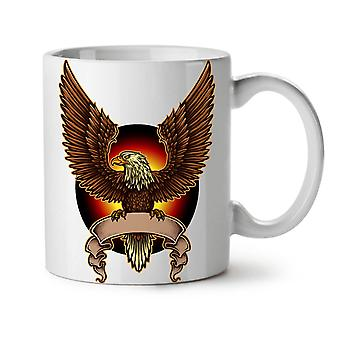 Eagle Moon Night Fashion NEW White Tea Coffee Ceramic Mug 11 oz | Wellcoda