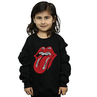 Rolling Stones jenter Distressed tungen Sweatshirt