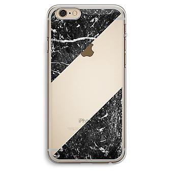 iPhone 6 Plus / 6S Plus caja transparente (suave) - mármol negro