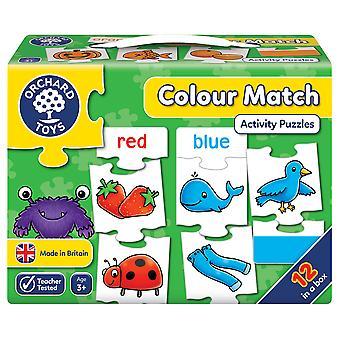 Orchard leker farge kampen puslespill spillet