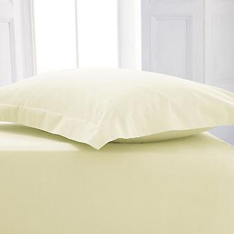 Percale Polycotton Flat Sheet Super King Cream