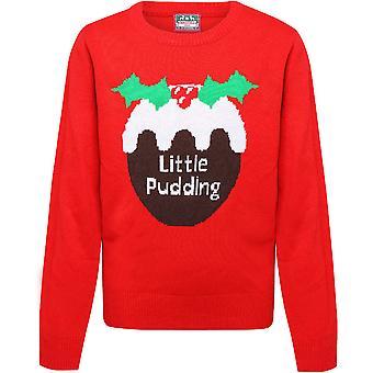 Christmas Boys & Girls Little Pudding Festive Sweater Jumper