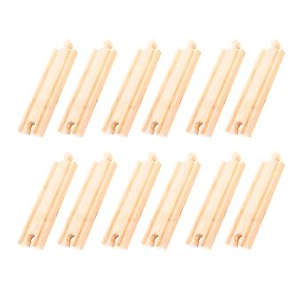 Bigjigs Rail Wooden Medium Straights (Pack of 12) Railway Train Track Expansion