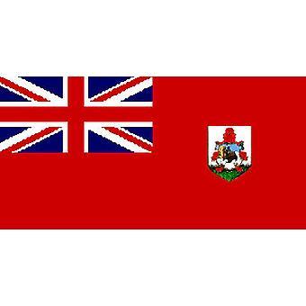 Bermudan lippu 5 jalkaa x 3 ft jossa ripustamista varten