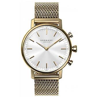 Kronaby 38mm karaat Bluetooth gouden mesh riem A1000-0716 S0716/1 horloge