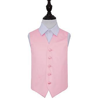 Baby rosa ren Satin bryllupet vest for gutter