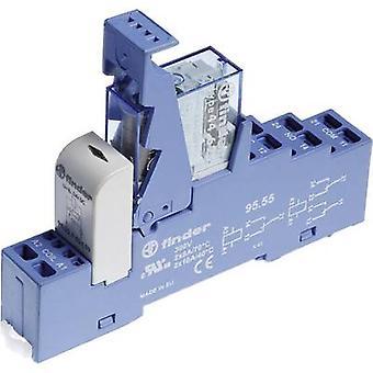 Finder 48.72.7.024.0050 Relaiskomponente Nennspannung: 24 V DC Schaltstrom (max.): 8 A 2 Umschaltungen 1 Stk.