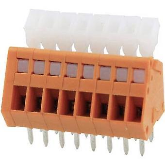 Degson DG240-2.54-05P-15-00AH-1 Veerbelaste terminal 0,51 mm² Aantal pinnen 5 Oranje 1 st(en)