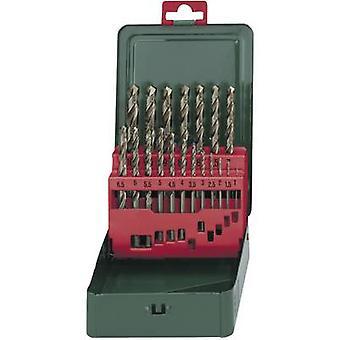 Metabo 627157000 HSS Metal twist drill bit set 19-piece cobalt DIN 338 Cylinder shank 1 Set