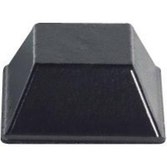 תופסן PB BS-03-BK-R-10 רגל הדבקה עצמית, ריבוע שחור (W x H) 12.7 mm x 5.8 mm 10 מחשבים (עם)
