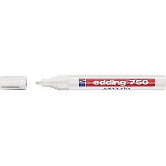 Edding 4-750049 edding 750 verf marker Verf marker Wit 2 mm, 4 mm 1 pc's/pack