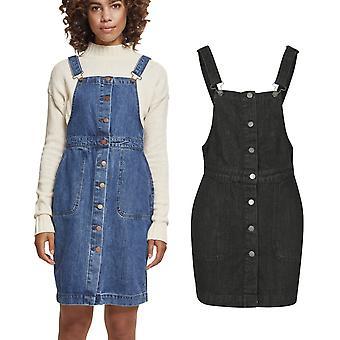 Urban classics ladies - denim Dungaree overalls dress