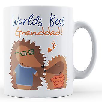 ¡Mundos mejores abuelo! Erizo - taza impresa
