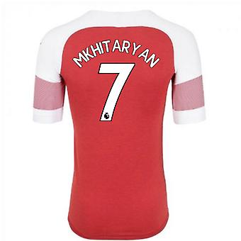 2018-2019 Arsenal Puma Home Football Shirt (Mkhitaryan 7) - Kids