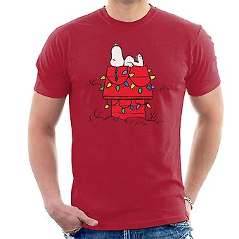 Peanuts Christmas Light House Snoopy Herren T-Shirt