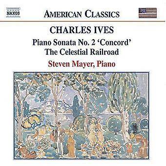 C. Ives - Charles Ives: Piano Sonata No. 2 'Concord'; the Celestial Railroad [CD] USA import