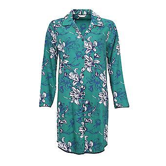 Cyberjammies 4067 kvinnors Rosie Emerald grön blommig Print sömn Shirt pyjamas nattskjorta