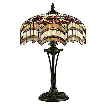 Lâmpada de mesa estilo Tiffany pequeno Vesta - interiores 1900 64376