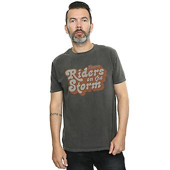 The Doors Men's Distressed Logo Washed T-Shirt