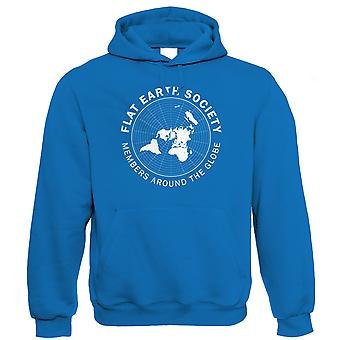 Flat Earth Society, Hoodie - Funny Behind Curve Disc Theory Unisex Lui cadeau