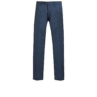 Dobell Mens Mississippi Blue Suit Trousers Tailored Fit