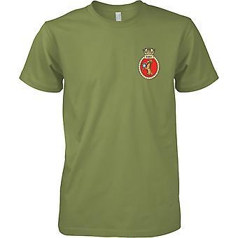HMS Ramsey - atual cor de t-shirt do navio da Marinha Real
