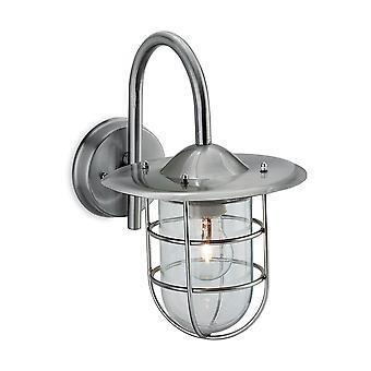 Firstlight - 1 Light Wall Light Stainless Steel IP44 - 8352ST