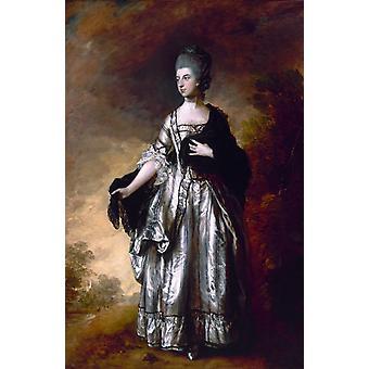 Isabella, Viscountess Molyneux, Thomas Gainsborough, 60x40cm