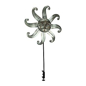 Metal Celestial Sun Deck Mount Wind Spinner
