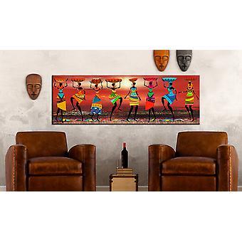 Painting - African Women Dancing120x40