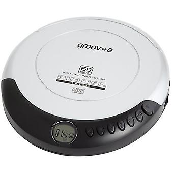 Groov-e Retro Series Personal CD Player with Earphones - Silver (GVPS110)