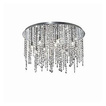 12 lumière moyenne semi Flush plafonnier pendentif chrome