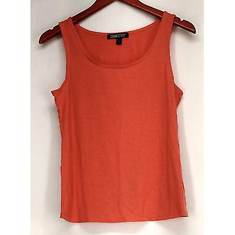 Gramercy 22 Top Scoop Neck Knit Tank Salmon Pink Womens A414643