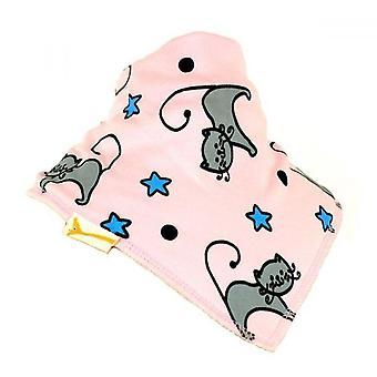 Pink cats & stars bandana bib