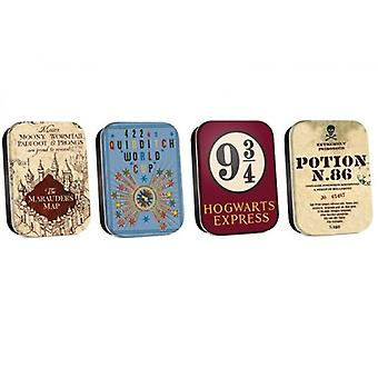Harry Potter Set of Four Tins