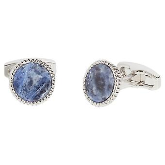Simon Carter Sodalite Rope Edge Cufflinks - Blue