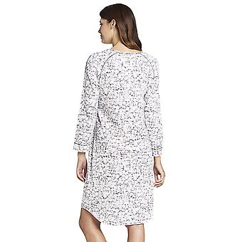 Rosch 1193551-16402 Donne's Smart Casual Mono White Floral Cotton Nightdress