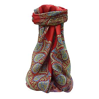 Mulberry Silk Traditional Square Scarf Xita Scarlet by Pashmina & Silk