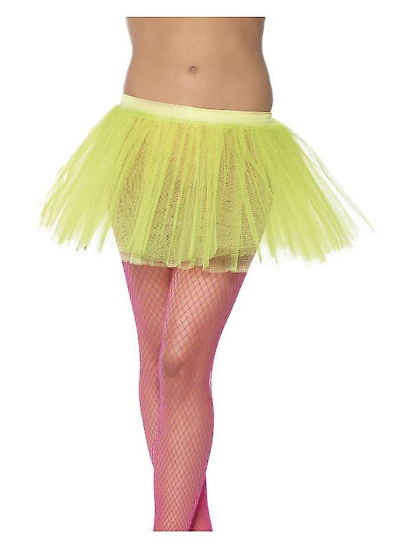 Womens Neon Giallo Tutu sottogonna costume accessorio