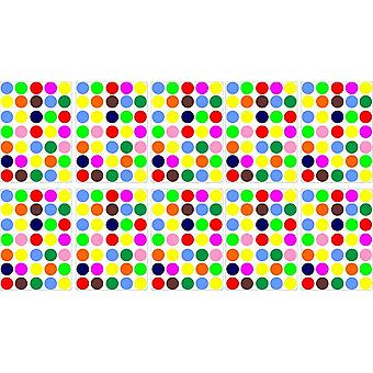 Lot Stickers 350 Rounds Multicolor 2Cm Scrapbooking Card