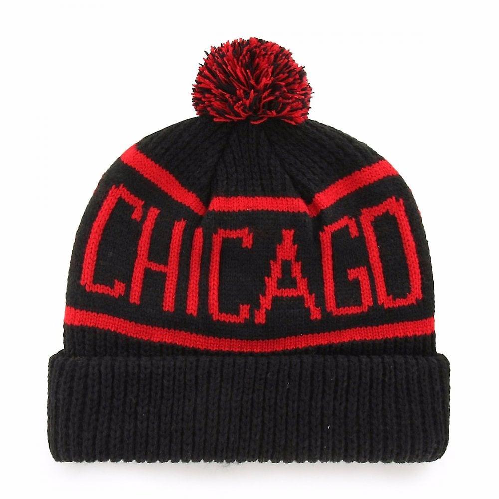 '47 Nhl Chicago Blackhawks Black Calgary Cuff Knit