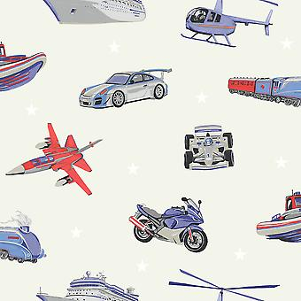Zoom Away Vehicles Wallpaper Arthouse