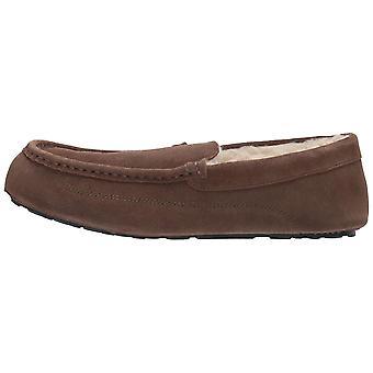 Amazon Essentials Men's Leather Moccasin Slipper, Expresso, 12 M US