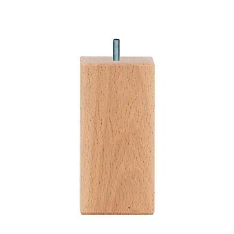 Cuadrados Muebles de madera Pierna 12 cm (M8)