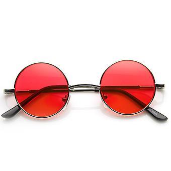 Pieni metalli pyöreä ympyrä Ozzy Elton John väri sävy Lennon tyyliä aurinkolasit