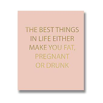Hill Interiors The Best Things In Life Quote Wall Plaque